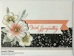 Sympathy card made using Close to My Heart (CTMH) Charlotte collection and Springtime Wishes stamp set and thin cuts #ctmhcharlotte #ctmhthincuts #ctmhwyw