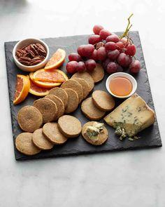 Blue-Cheese-Pecan Icebox Crackers