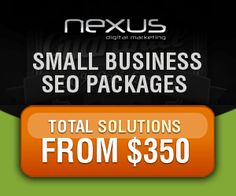 Small business seo packages total solutions starts from $350 Visit us at : http://nexusdigitalmarketing.com.au/seo-services