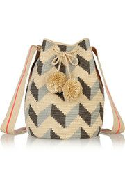 Sophie Anderson Lilia crocheted cotton shoulder bag