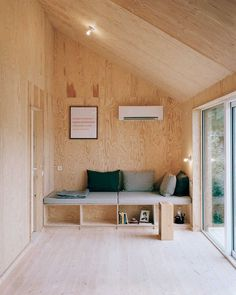 all plywood interior and built in furniture