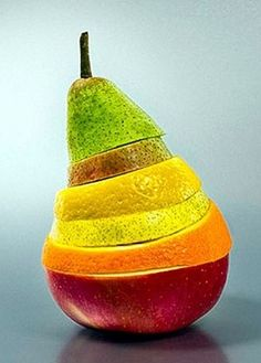 striped layered fruit