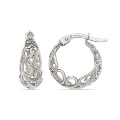 Cloud Filigree Hoop Earrings in White Gold https://www.brilliance.com/earrings/cloud-filigree-hoop-fashion-earrings-white-gold