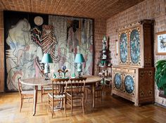 Dining room in the Villa Santo Sospir by Madeleine Castaing