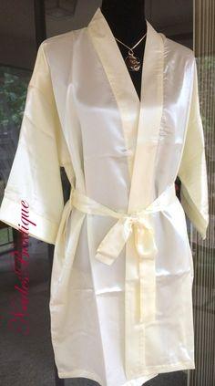 Ivory Silky textured kimono, Bridal kimono, soft fabric, silky kimono, bridal robe, lingerie, getting ready robe, wedding gift