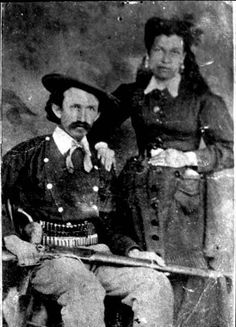 Charles Bowdre, one of the regulators along with Billy the Kid in the Lincoln County War, and his wife, Mannela Herrera Bowdre. Photo by James N. Furlong, 1878. Palace of the Governors Photo Archives 105048.