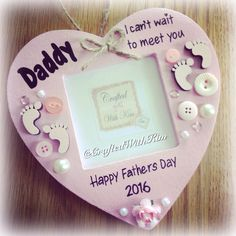 #fathersday gift idea #babyscanphotoframe - #daddy I can't wait to meet you  Www.facebook.com/CraftedWithKim