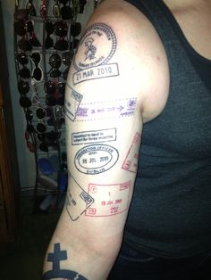 passport stamp tattoos