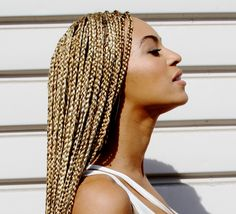 platinum mini twists | ... show off her waist length box braids. What do you think of her look
