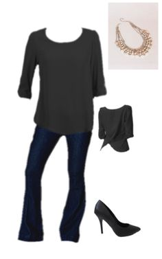 We adore our tulip draped blouse with our Flare Yoga Jeans (on sale now)! Dress it up with a statement necklace from Three Bird Nest and some killer black heels! Get the look at www.luxquisite.ca