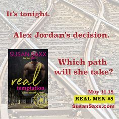 Coming May 11...  REAL TEMPTATION. REAL MEN #8.   A New Year's Eve erotic romance.   ONE NIGHT CHANGES ALL....