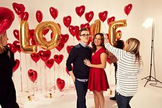 Mcfly's Tom Fletcher and wife Giovanna On Sunday mag Valentine's cover-backstage.