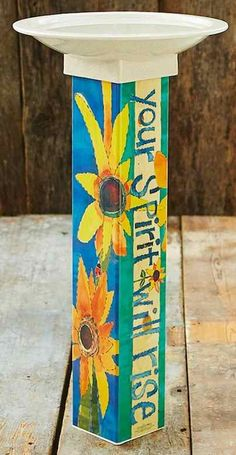 Painted Peace / Peace Poles from Quirks of Art Garden Whimsy, Garden Art, Garden Junk, Garden Sheds, Glass Garden, Garden Projects, Art Projects, Vinyl Art, Pvc Vinyl