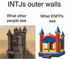I love seeing intj-enfp things like this because my mom is intj and my dad was enfp and they always seem so accurate