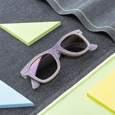 Purple. Denim. #Wayfarer // Express your colors @ http://neverhi.de/vmr2 // #campaign4change