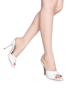 Pinup Girl Exclusive Mule in White | Pinup Girl Clothing