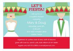 Fiesta Wedding Blond Invitation from Polka Dot Design