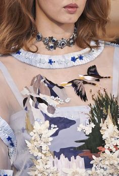 A detail by Lemarié, on a Metiers d'Art dress from the Paris-Salzburg 2014-15…