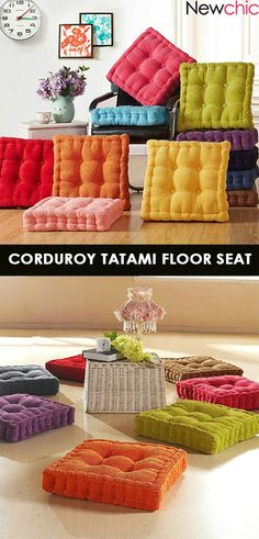 Washable Corduroy Tatami Floor Seat & Dress Outfits for Tatami, Floor Seating, Diy Party Decorations, Textiles, Corduroy, Home Goods, Easy Diy, Sewing Projects, Sweet Home