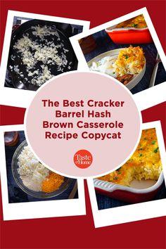 The Best Cracker Barrel Hash Brown Casserole Recipe Copycat Cracker Barrel Hash Brown Casserole Recipe, Copycat, Casserole Recipes, Crackers, Good Things, Food, Crock Pot Recipes, Pretzels, Essen