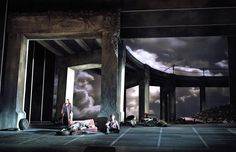 SWEEPING ARCHES AND SECOND LEVEL: Michael Yeargan, Set Design