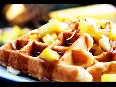 Pineapple, Macadamia Nut & Coconut Waffles