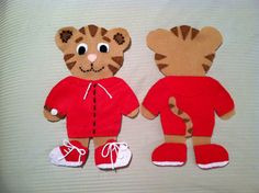 DIY Daniel Tiger's neighborhood felt doll