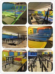 Installation pictures of Indoor Trampoline Park
