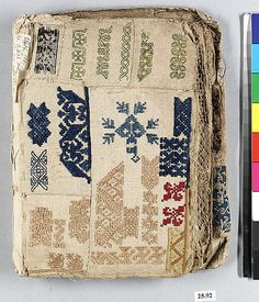 Sample book Date: early century Culture: Spanish or Italian Dimensions: 8 x x Classification: Textiles Credit Line: Gift of Miss Mary Parsons, 1925 Accession Number: Embroidery Sampler, Embroidery Stitches, Embroidery Patterns, Hand Embroidery, Fabric Journals, Art Journals, Diy Broderie, Stitch Book, Art Textile