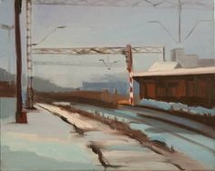 "Marta Zamarska; Painting, ""A Railway Impression XX"" #art"