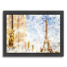 Americanflat City Art Paris Eiffel Tower II Framed Wall Art, Multicolor