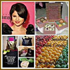 I'm THRILLED to announce Another amazing opportunity through #TheArtisanGroup #SelenaGomez played last night to a sold out crowd in LA at the Staples Center on her #StarsDance world tour. Backstage after the show she and her crew received a huge bag of handmade goodies from our team including SoapyBliss's Box of Sunshine Bathtub Candy:)!!! #AWESOMEDAY!!