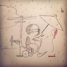 Ne t'inquiète pas de la pluie ☔ Don't worry about the rain. #Anart #Draw #Dessin #Dream #Up