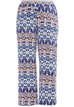 Cato Fashions Aztec Diamond Print Palazzo Pants-Plus #CatoFashions