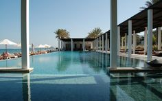 the adult pool at The Chedi, Muscat, Oman #ThePurplePassport