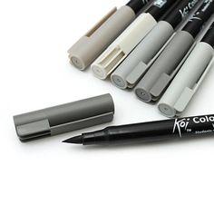 Su yumuşak kafa işaretleyici kalem Siyah ve gri copic kroki belirteçler hatları çizim manga suluboya sanat malzemeleri 6 renkler(China (Mainland))
