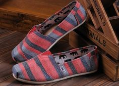 TOMS Outlet! Most pairs are less than $20! | See more about blue stripes, toms shoes outlet and pink blue.