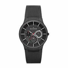 Skagen Black Titanium Multifunction Watch 809XLTBB