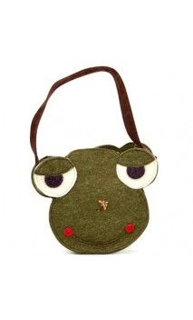 #bags #borse #handmade #artigianali #felt #feltro #frog #rana #shopper Ranocchio / Frog!