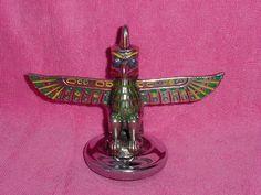 Vtg Winged Totem Pole Radiator Cap Hood Ornament Mascot Old Antique Car Truck | eBay