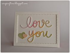 Scraping time: Watercolor love-card...