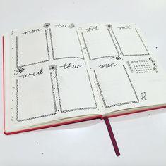 bullet journal - weekly spread