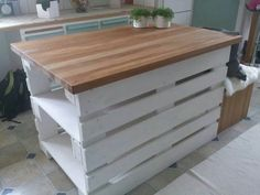 How to Build a Kitchen Island from Wood Pallets | Kitchens and Storage