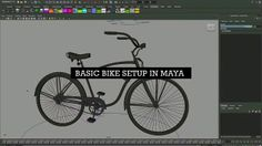 Creating a simple Rig for a Bicycle's chain and handle bars using Maya