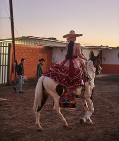 Escaramuza, an all-female sport within charrería the Mexican equivalent of rodeo photography by Devin Doyle for Vogue 'Riding High' Mexican Rodeo, Beautiful Mexican Women, Chicano Love, Mexican Fashion, Vogue, Beard Lover, Mexican Dresses, Horse Girl, Quinceanera Dresses