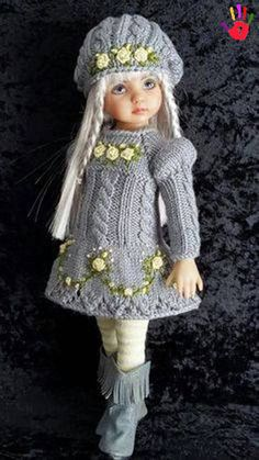 50 ideas high knee boats outfit fall hats for 2019 Knitting Dolls Clothes, Crochet Doll Clothes, Knitted Dolls, Girl Doll Clothes, Doll Clothes Patterns, Crochet Dolls, Girl Dolls, Crochet Baby, Bootfahren Outfit