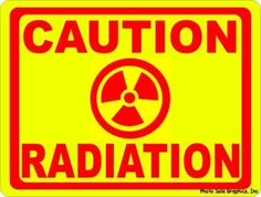 Caution Radiation Sign.