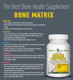 What is in BONE MATRIX. http://www.amazon.com/Osteoporosis-Supplement-Bone-Health-Multimineral/dp/B00YPVFTUQ