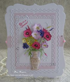 """Hello everyone.. Sharing my DT samples for Tattered lace..New Launch.. """"Vintage Botanical`s 2""""..   Create and Craft TV  8.00 am ..."""