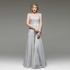 Jadore Rebecca Beaded Dress in Silver